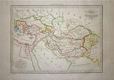 1833 Genuine Antique map Alexander's Empire. Malte-Brun