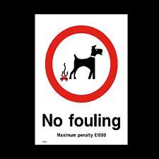 N ° ensuciamiento señal, etiqueta engomada - 150mm X 200mm (A5) - Perros, Parque, la hierba (PPA8)