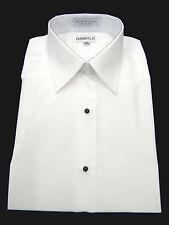 "NEW Microfiber Tuxedo Shirt ""Laydown Collar"", Non pleat, White"