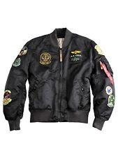Alpha Industries chaqueta ma1 piloto cazadora aviador chaqueta Black overdyed #5398