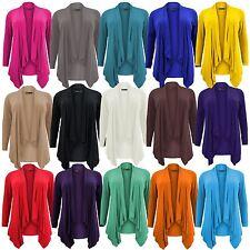 New Ladies Plus Size Hanky Hem Jumbo Waterfall Cardigans 16-26