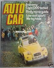Autocar 10/4/1976 featuring Ford Capri, Bill Fredrick's Land Speed Record Car