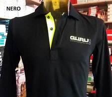 Polo hombre Guru manga larga con el logotipo estampado frontal y en el cuello