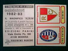 CALCIATORI 1982-83 82-1983 n 422 PRO PATRIA RIMINI - Figurina Panini velina