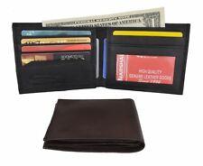 Men's Lamb Genuine Leather Slim Thin Bifold ID Credit Card Holder Wallet NEW