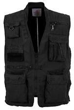 Mens Safari Outback Adventure Travel Vest Black Rothco 7575