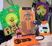 NEW LOT HALLOWEEN Costume Tiara Bead Pumpkin Bag Children TREAT Baby Tights Bib
