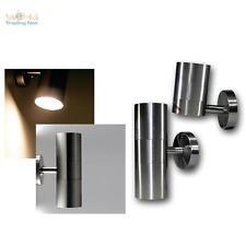 LED Wandleuchte Edelstahl Außenleuchte Außenwandleuchte Wandlampe 230V Leuchte