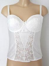 2451a706c7 Charnos Belle Ivory Bridal Basque Detachable Suspenders BL009 Size 34D or  36C