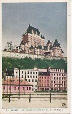 Canada, Quebec- Lachateau Domine La basse- Ville. Vintage Postcard