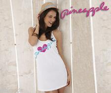Pineapple Dance Wear White or Pink Lightweight Summer Beach Dress Free UK Ship S