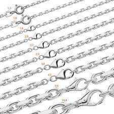 MASSIVE ANKERKETTE Collier 925 Silber Kette Diamantiert HERREN DAMEN Halskette