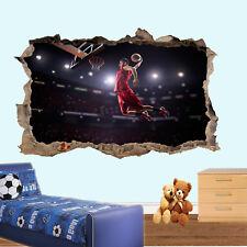 Slam Dunk Basketball Wall stickers 3D Art Décalcomanie Murals Salle de bureau decor VV8