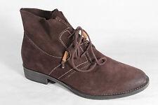Bottines femme, bottes, bottes véritable cuir marron NEUF