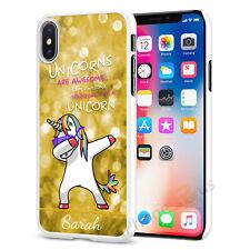 Unicorn Dab Pesonalised Customised Any Name Phone Case Cover Top Models 060-6