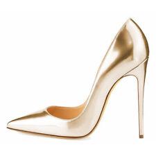 WOMEN SHOES DESIGNER PATENT GOLD STILETTO HEEL PUMPS 12CM 10CM 8CM