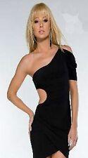 NEW BOUTIQUE BLACK CUT OUT WAIST DETAIL MINI DRESS