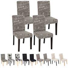 Set 4x sedie Littau tessuto per sala da pranzo 43x56x90cm