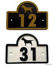 Bull Terrier Inglese CASA PORTA NUMERO PLACCA-GIARDINO PORTONE DOG SIGN (0 a 9999)