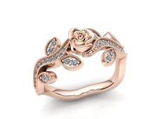 2ctw Round Brilliant Diamond Ladies Accent Flower Fancy Engagement Ring 10K Gold