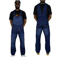 Peviani kampf herren bar jeans-latzhose,latzhose einteiler hiphop indigo