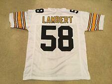 UNSIGNED CUSTOM Sewn Stitched Jack Lambert White Jersey - M, L, XL, 2XL