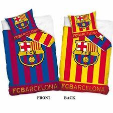 FC BARCELONA REVERSIBLE 100% COTTON DUVET COVER SET NEW BEDDING FOOTBALL