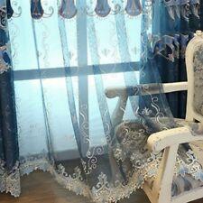 Embroidery Jacquard Curtain Fabric Exotic Chenille Pelmet Tulle Drape Panel Home
