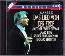 Leonard BERNSTEIN: MAHLER Das Lied von der Erde FISCHER-DIESKAU JAMES KING CD