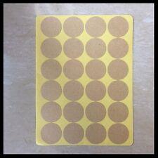 Blank Kraft Round Circle Stickers   25mm   BL025