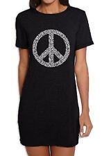 Peace Symbol CND Women's T-Shirt Dress  - Hippie Festival Political Anti War