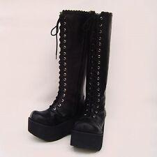 gothic lolita punk stiefel boots Shoes Schuhe Amane Misa death note cosplay goth