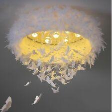 Nordic LED ceiling luminaire bedroom feather ceiling lamp romantic children room