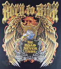 T-Shirt #639 BORN TO RIDE EAGLE OLDSCHOOL HOTROD Dragster Pin Up V8 Biker