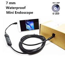 5M/2M 6 LED Waterproof Borescope Endoscope USB Snake Inspection Tube Spy Camera