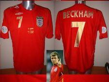 Inghilterra Beckham S M L XL XXL Coppa del Mondo 06 SHIRT JERSEY FOOTBALL CALCIO UMBRO TOP