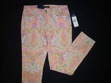NWT NEW womens pink orange green purple pastel CHAPS slimming skinny jeans pants
