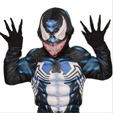 Kids Boys Venom Black Fancy Dress Up Play Costumes Halloween Cosplay Suit UK