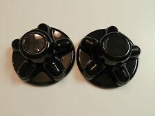 "(2) Black Trailer Wheel Hub Cap Covers 5 lug 5 x 4.5"" pattern, cargo,camper"
