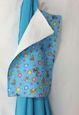 Turquoise Muslin Swaddling Blanket - Burp Cloth Combo - Burp Cloth  Terry Back