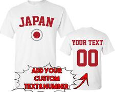 JAPAN World Cup Unisex TSHIRT Jersey Custom Text Number Japan Flag Tee Shirt FIF