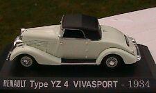 MINIATURE RENAULT TYPE YZ 4 VIVASPORT 1934 NOREV 1/43 + CAPOTE M6 COLLECTIONS