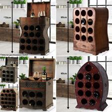 Weinregal Flaschenregal Deko Holz Wein-Schrank Shabby-Look Vintage Kolonialstil