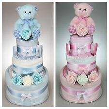 BABY BOY GIRL UNISEX THREE TIER NAPPY CAKE NEW BORN BABY SHOWER MATERNITY LEAVE