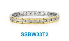 2 Tone Women magnetic stainless steel link bracelet (Gold & Silver)