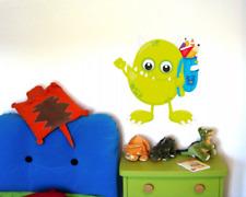 Monster mit Rucksack Wandtattoo Aufkleber Kinderzimmer  5 Größen