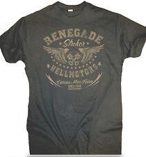Hellmotors Old School T-Shirt Renegade grau Vintage Chopper Biker Hot Rod V8