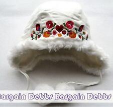 H&M - INFANT BABY FLEECE HAT CAP - UNISEX 9-12 MONTH - WHITE -NWOT