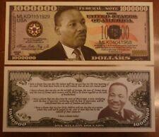 Biglietto SEGNALIBRO banconota DOLLARO Martin L. King I've a dream