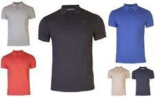 Mens Polo T-Shirts Pique Tops Plain Short Sleeved Cotton Tee Golf Tennis Gym